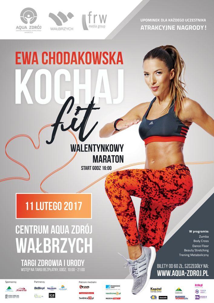 Plakat_Kochaj Fit z Ewą Chodakowską