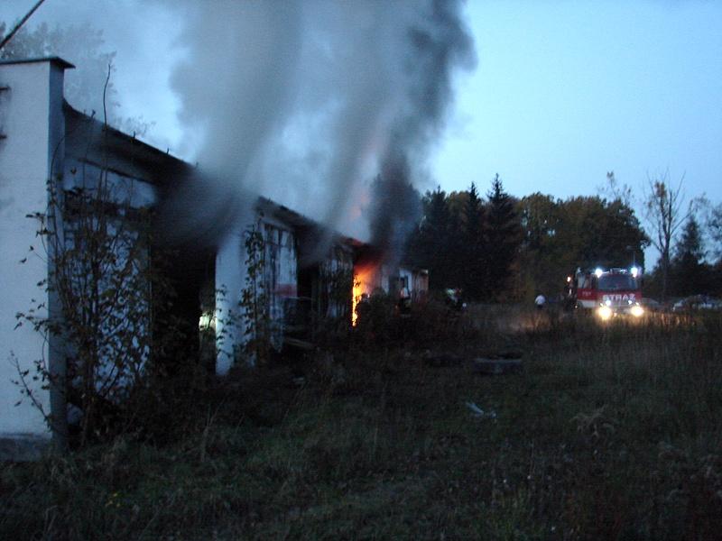 Pożar w Łażanach