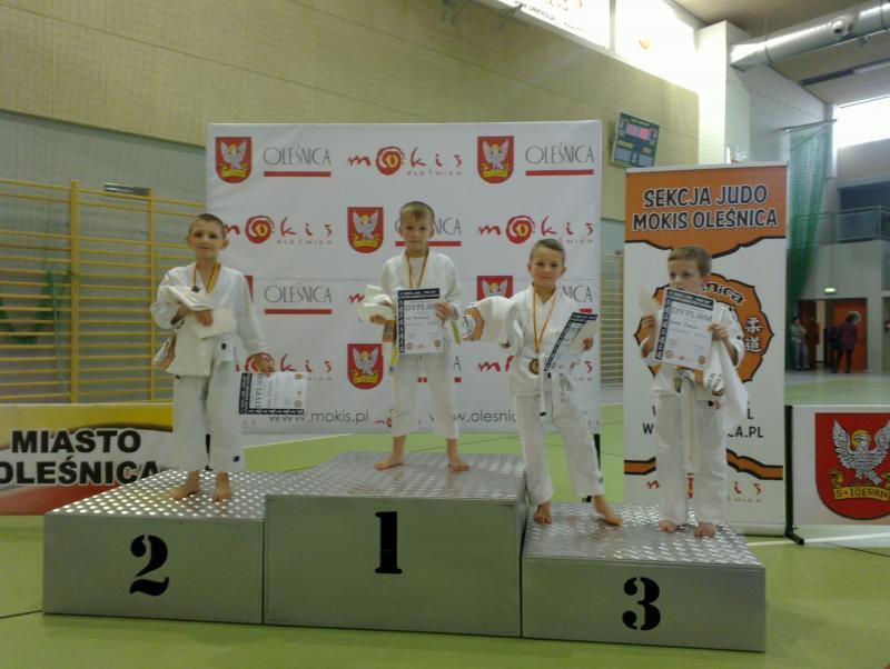 Trzy medale młodych judoków w Oleśnicy