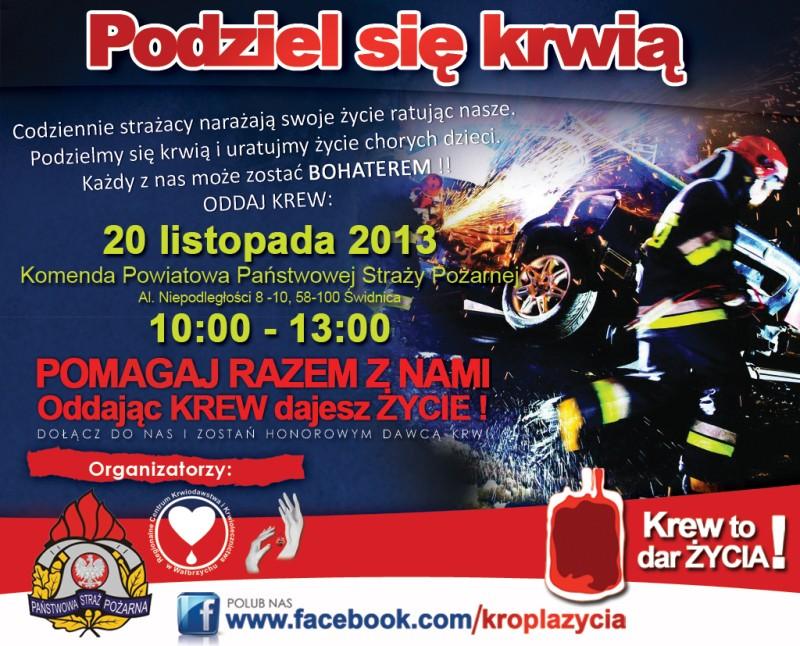 Podziel się krwią u strażaków