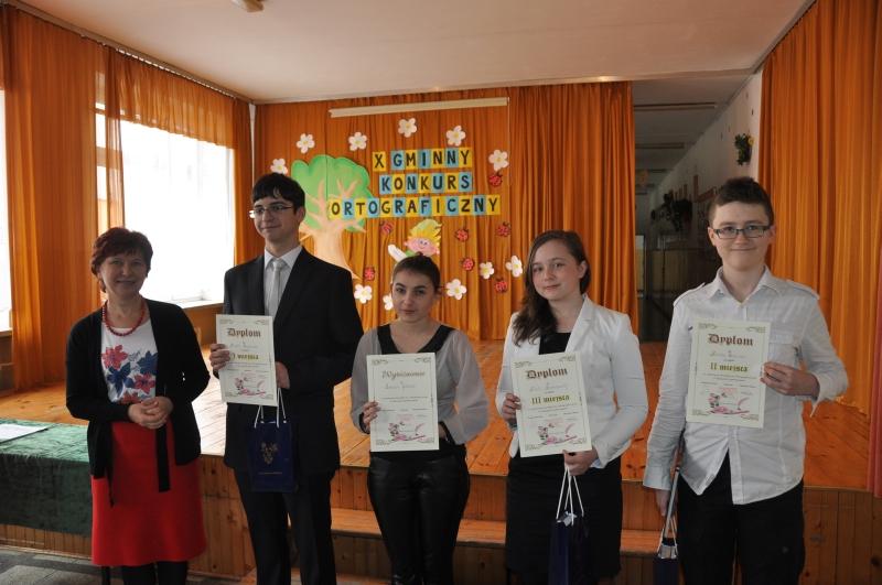 Laureaci konkursu ortograficznego w kat  szkoły podstawowe