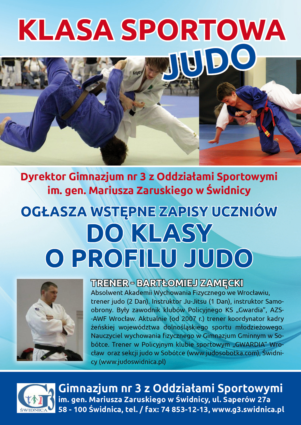 Rusza klasa sportowa o profilu judo