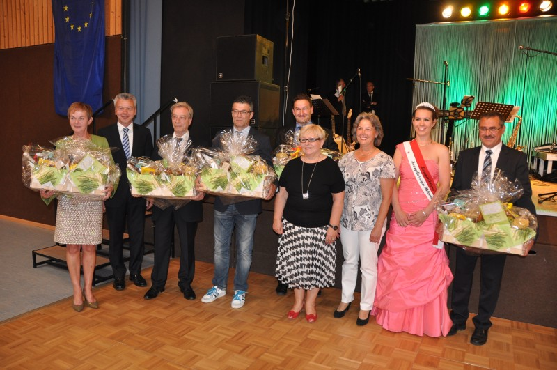 Burmistrzowie miast partnerskich podczas spotkania w Lampertheim