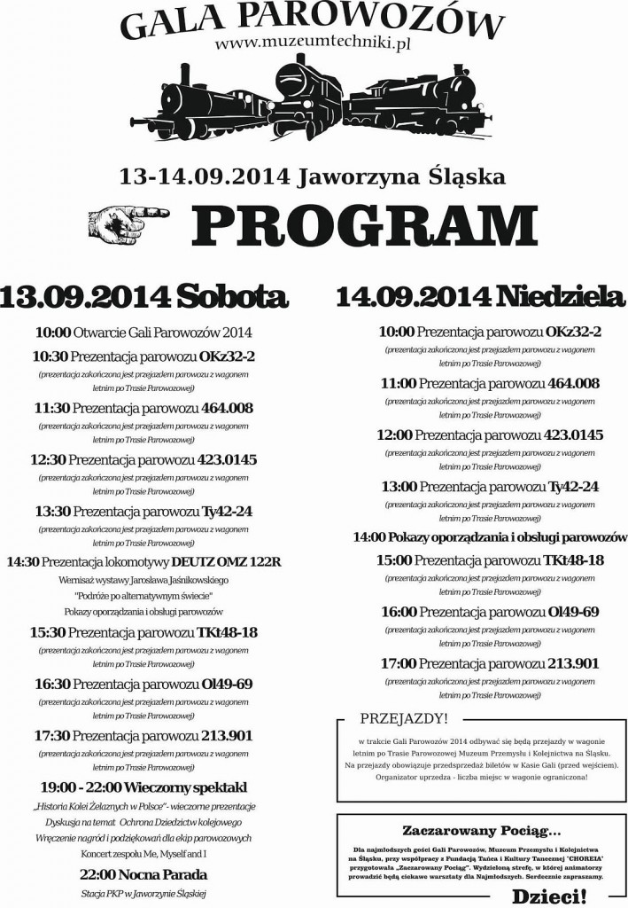 PROGRAM GALI PAROWOZÓW 2014