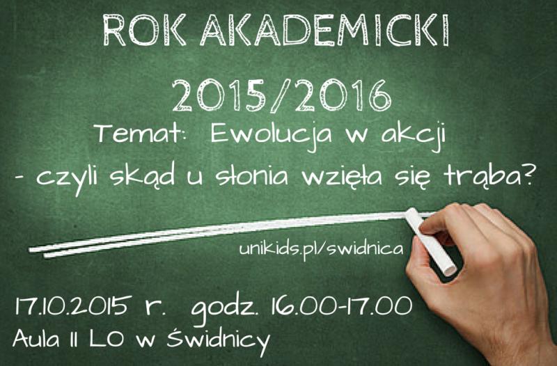 ROK AKADEMICKI 2015-2016wykład