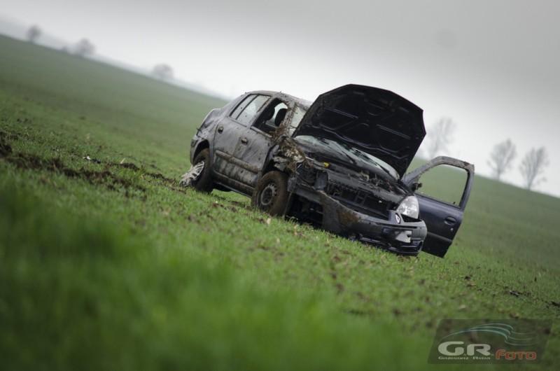 Samochód dachował [FOTO]