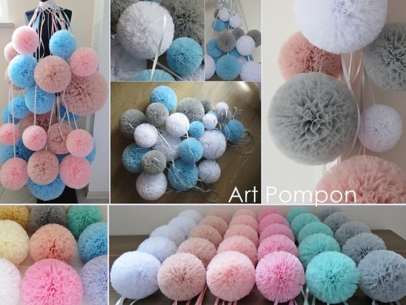 2. Pompony tiulowe Art Pompon, fot. Art Pompon