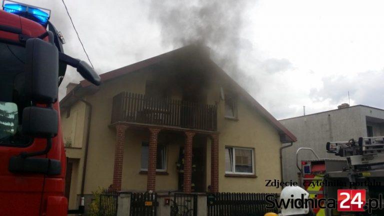 Pożar domu jednorodzinnego [FOTO]