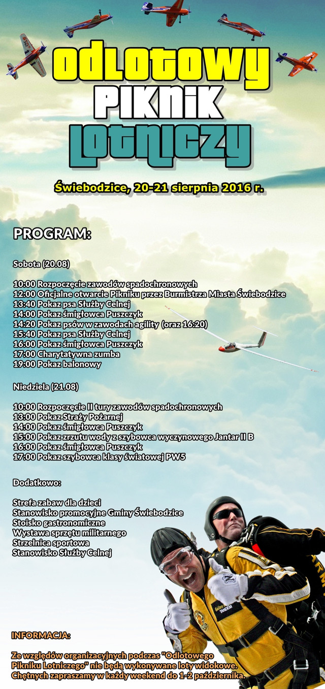 program godzinowy piknik lotniczy