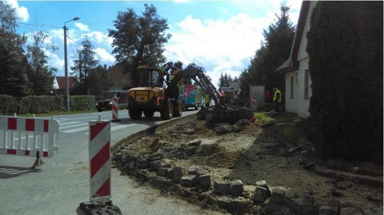 Budowa chodnika w Witkowie i Starym Jaworowie