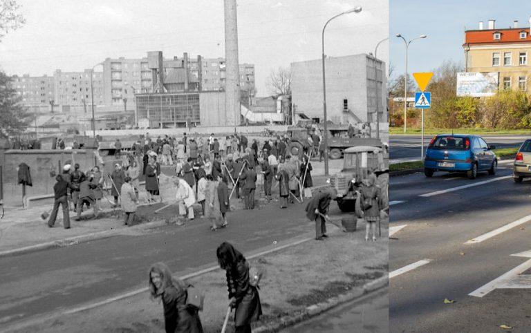 Świdnica wczoraj i dziś. Ul. Sikorskiego / ul. Zamenhofa