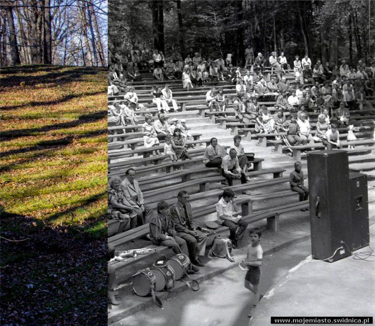 Świdnica wczoraj i dziś. Amfiteatr w Parku Sikorskiego