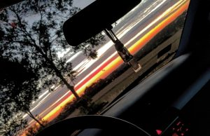 Zachód słońca w okolicach Wirek. Fot. Łukasz Balant