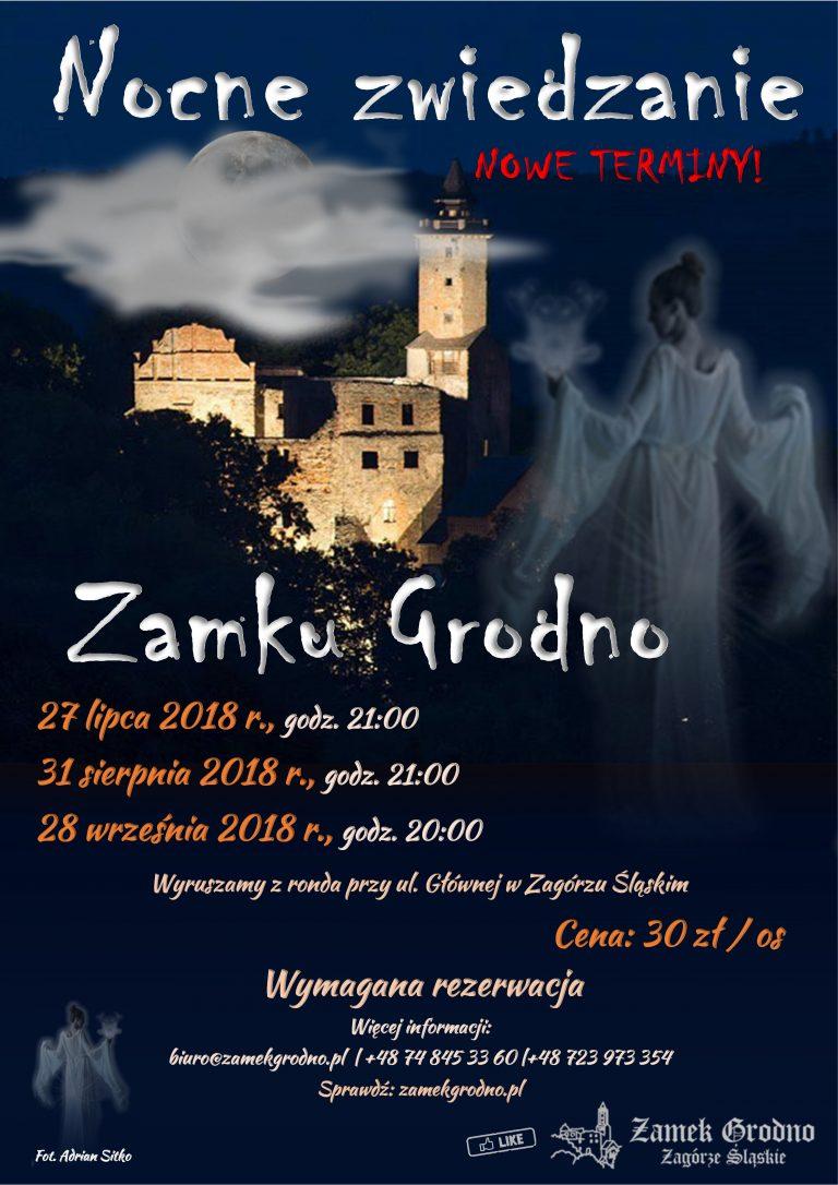 Zamek Grodno – Nocne zwiedzanie 31 sierpnia / 28 września 2018
