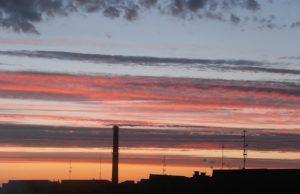 Niebo nad osiedlem, Zawiszów, fot. Anna Strzelecka