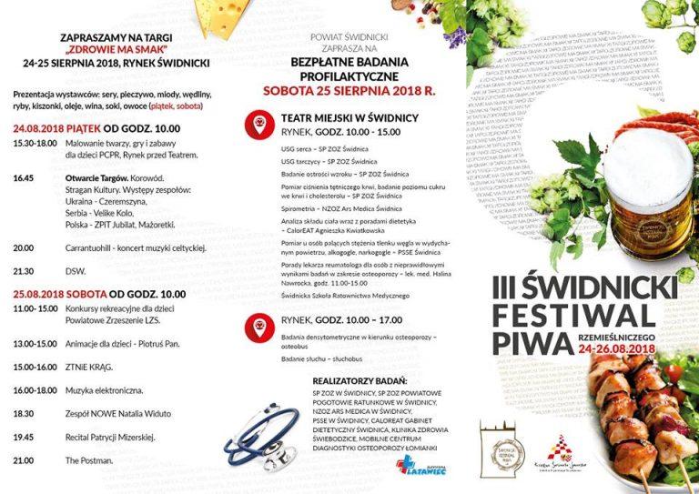Targi Zdrowej Żywności i Festiwal Piwa 24-25 sierpnia 2018