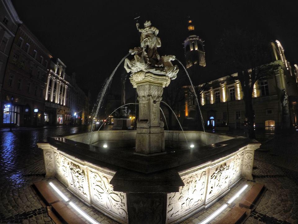 Fontanna Neptuna po remoncie, fot. Piotr Tomaszewski