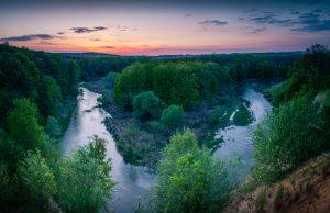 Meandry rzeki Bystrzycy w okolicach Pankowa