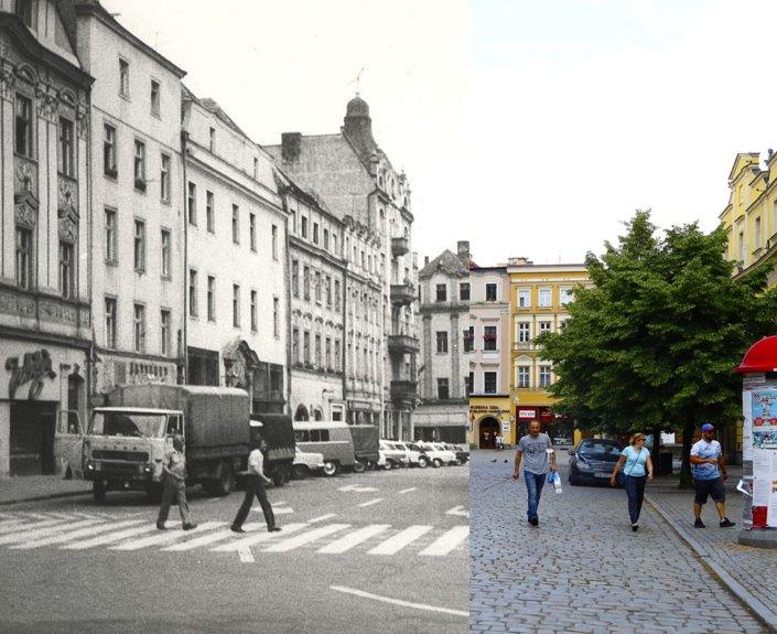 Świdnica wczoraj i dziś. Rynek, pierzeja zachodnia