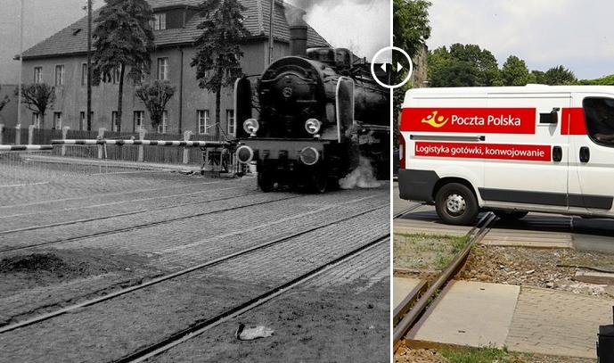 Świdnica wczoraj i dziś. Ul. Komunardów – przejazd kolejowy