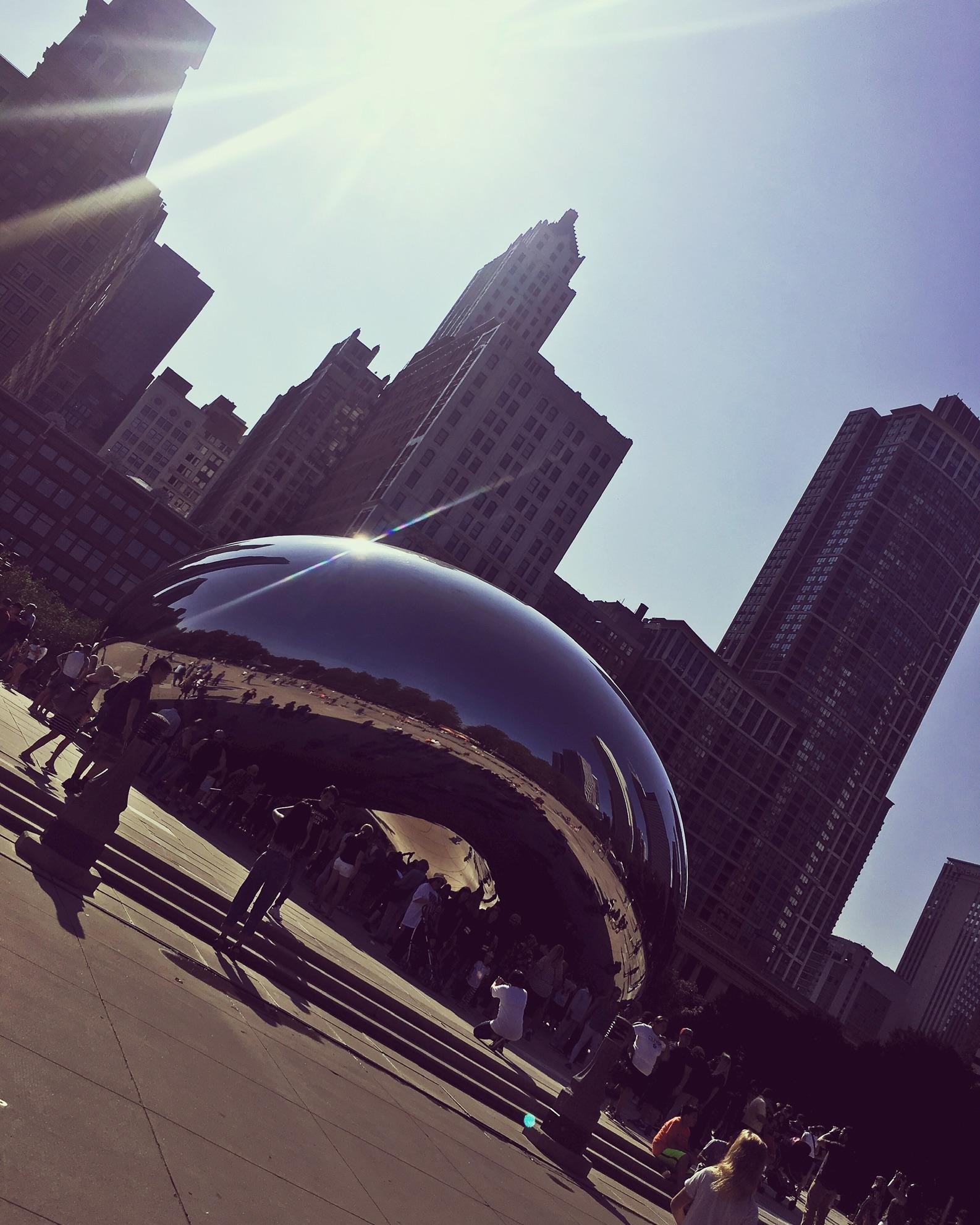USA, Chicago, Millennium Park, Cloud Gate, fot. Viktoria Szczypińska