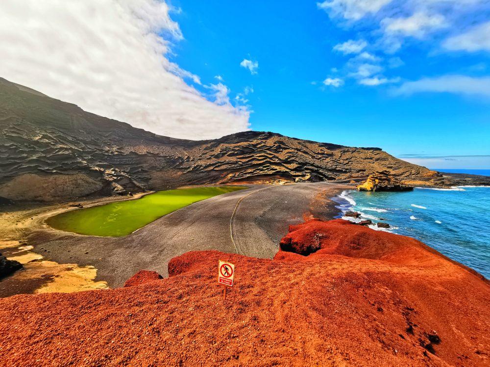 Wyspy Kanaryjskie, Lanzarote, miejscowość EL Golfo, fot. Rafał Sajdak