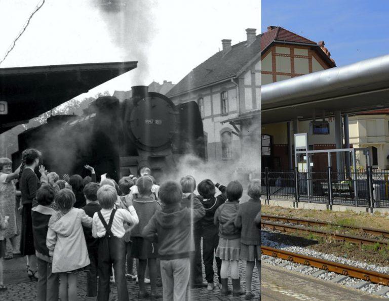 Świdnica wczoraj i dziś. Peron dworca Świdnica Miasto
