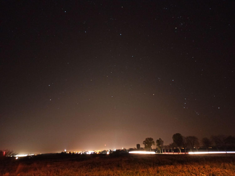 Na drodze Dk35, Komorów, 28 październik 2019, fot. Łukasz Szymski