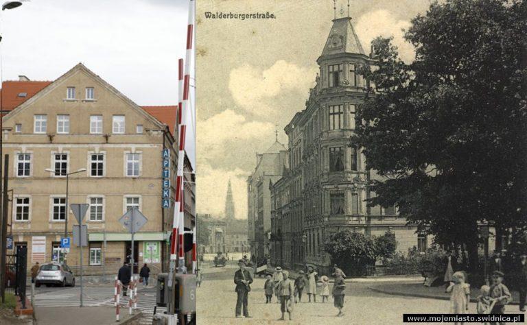 Świdnica wczoraj i dziś. Ul. Wałbrzyska