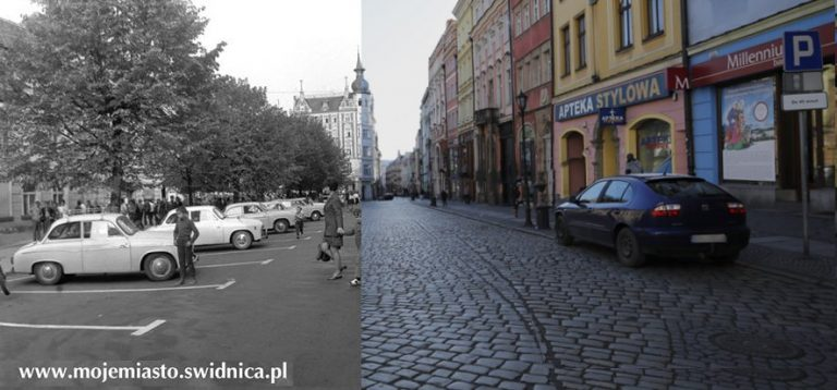 Świdnica wczoraj i dziś.Rynek