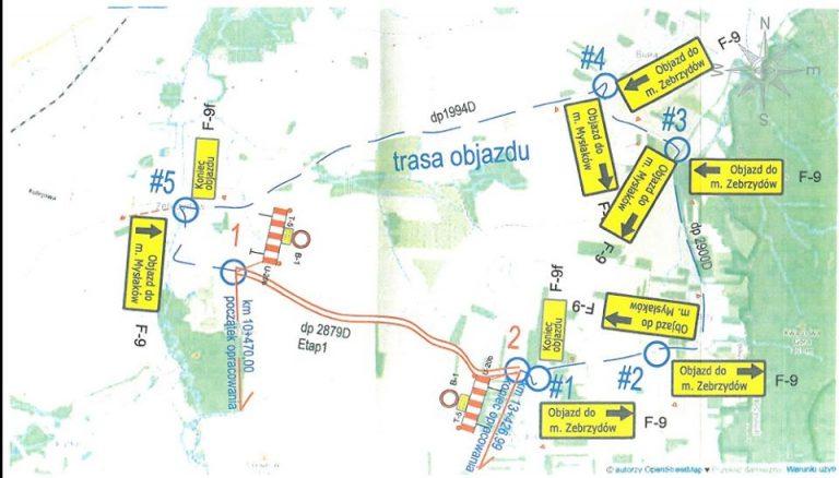 Rusza przebudowa drogi Zebrzydów-Mysłaków. Zmiana organizacji ruchu od 29 lutego