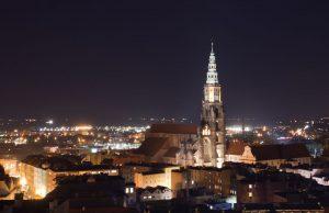 Widok z Wieży Ratuszowej w Świdnicy, 5 luty 2020, fot. Rafał Dobrowolski