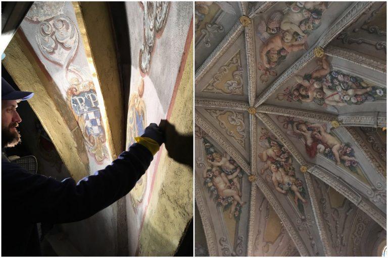Barokowe freski świdnickiej katedry odzyskują blask [FOTO]