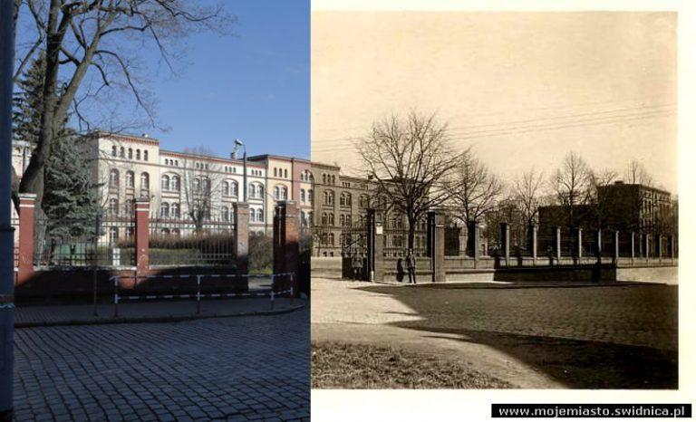 Świdnica wczoraj i dziś. Ul. Saperów – Szkoła Podstawowa nr 105