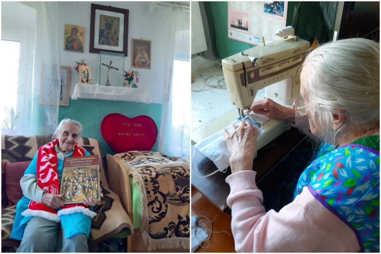 Szyjąca maseczki 96-latka wyróżniona w ogólnopolskim plebiscycie