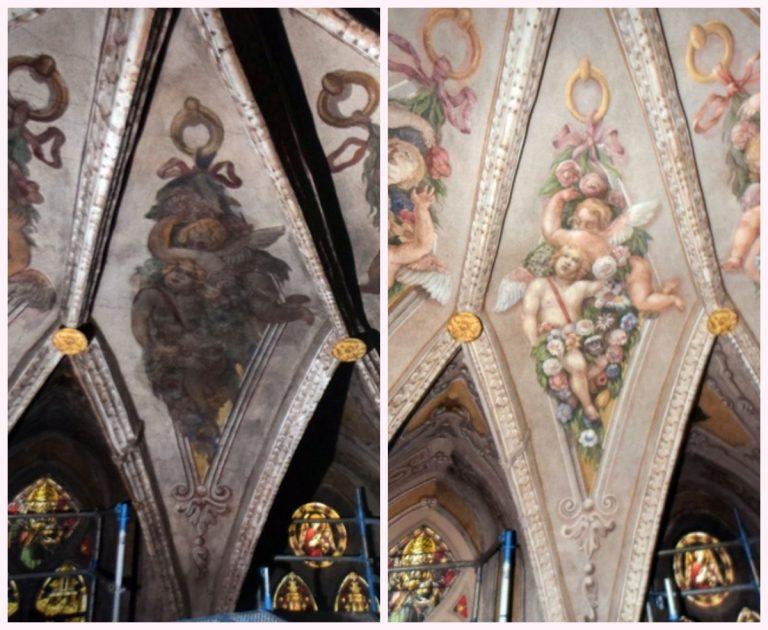 Barokowe polichromie świdnickiej katedry odzyskały blask. Trwa zbiórka na dalszy remont świątyni [FOTO]