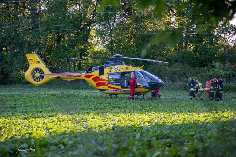 Porażony prądem 16-latek spadł ze słupa energetycznego