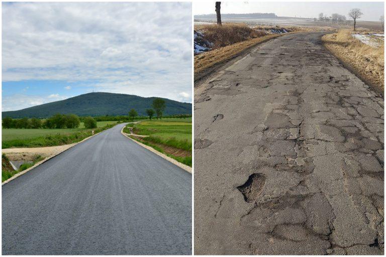 Przebudowa drogi Zebrzydów-Mysłaków zmierza ku końcowi [FOTO]