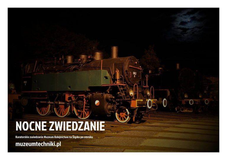 Obejrzyj zabytkowe lokomotywy… nocą