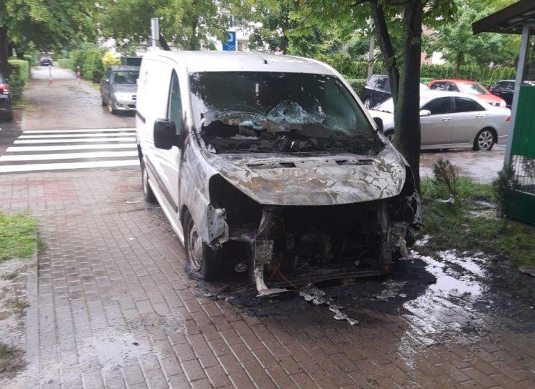 Pożar samochodu na Osiedlu Młodych [FOTO]