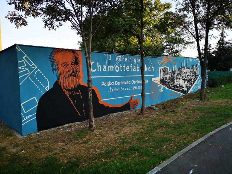 Wspomnienie przemysłowej historii na nowym muralu