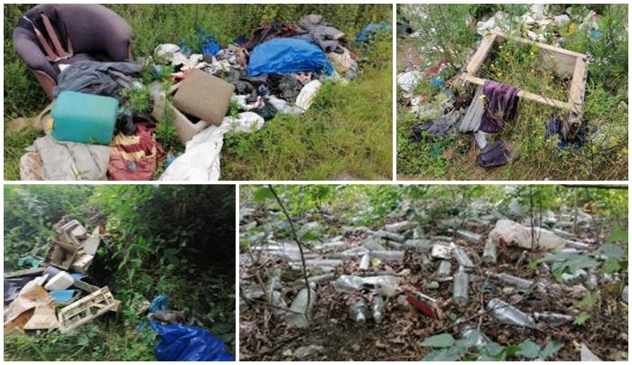 Na oczach dziecka wyrzucali śmieci w zarośla, inni niszczyli worki z odpadami