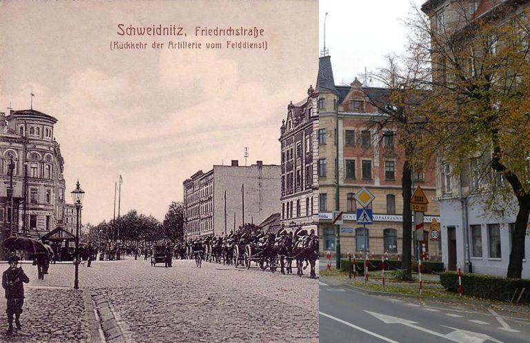Świdnica wczoraj i dziś. Ul. Komunardów