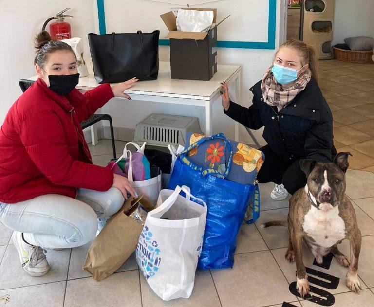 Licealiści wspomogli podopiecznych schroniska dla zwierząt