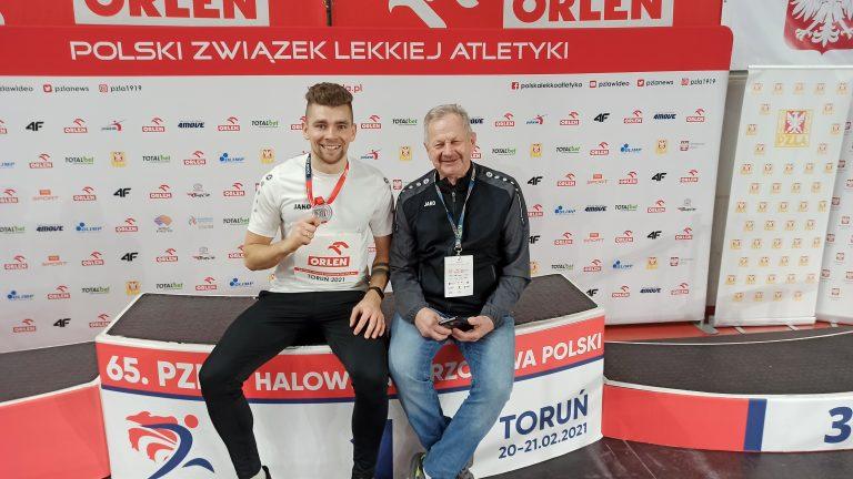 Mateusz Jopek srebrnym medalistą 65. Halowych Mistrzostw Polski!