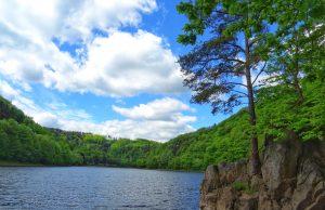 Poranek nad Jeziorem Bystrzyckim, fot. Leszek Krawiec