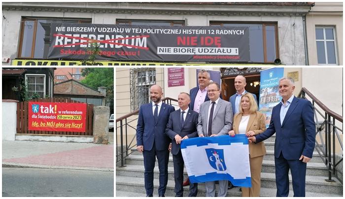 Prezydenci na pomoc burmistrzowi Świebodzic. W niedzielę referendum